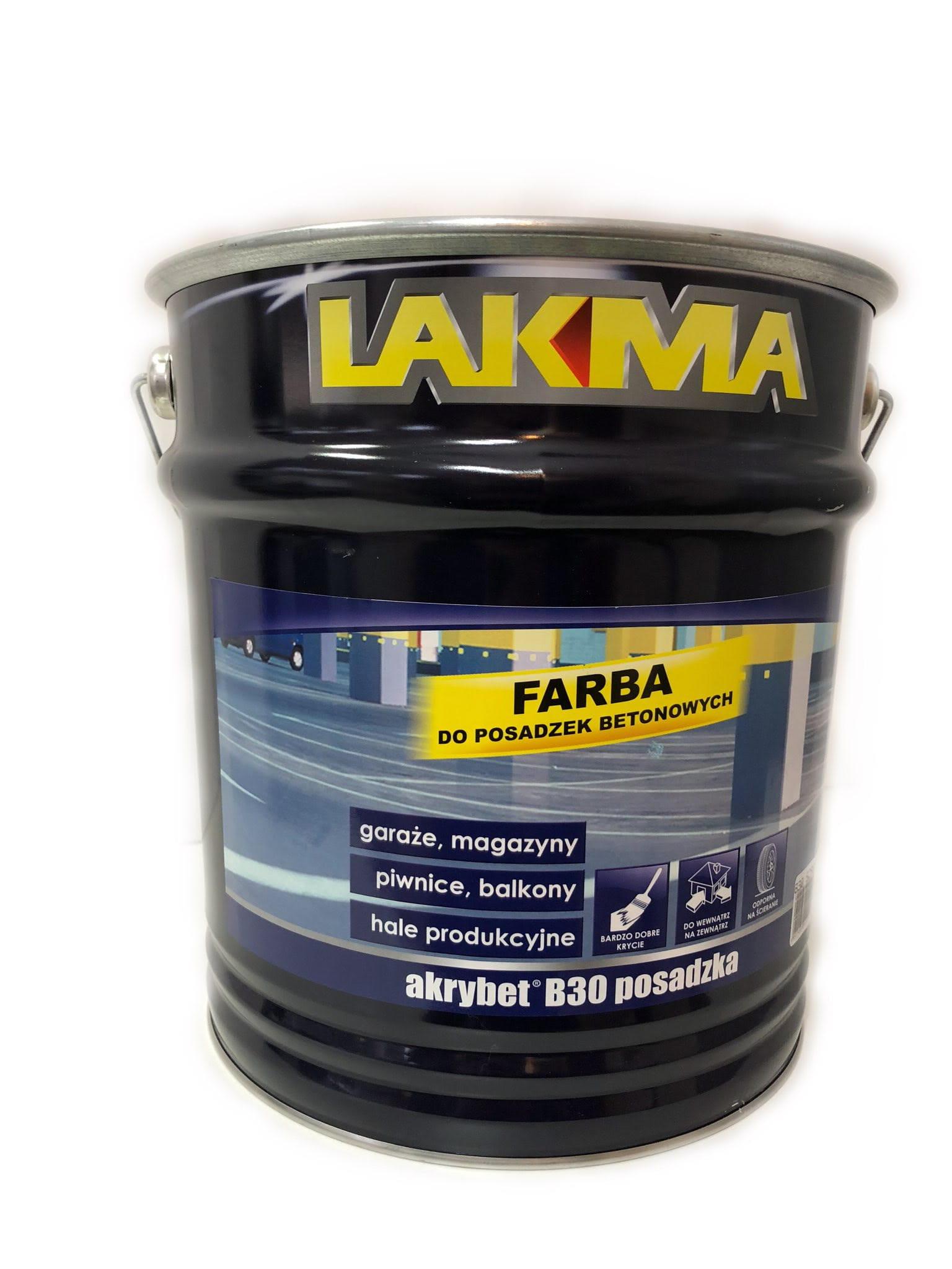 Farba Do Posadzek Betonowych Akrybet B30 Marki Lakma